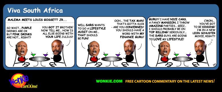Julius Malema Lifestyle Audit cartoon