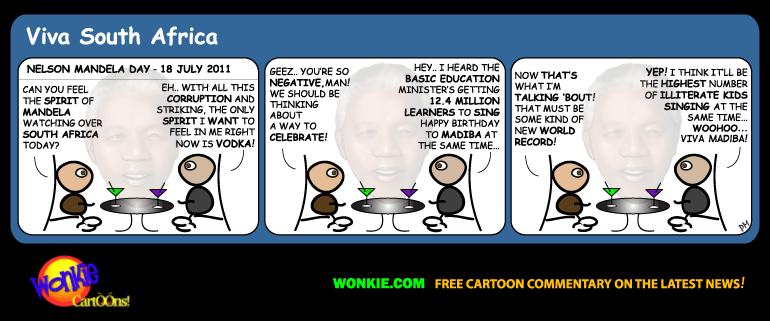 Nelson Mandela Day cartoon