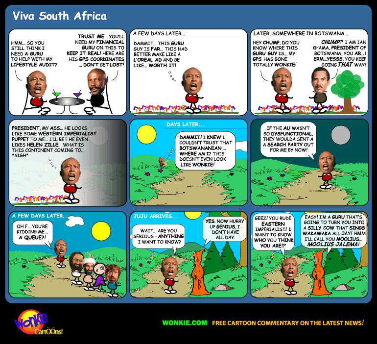 Julius Malema meet Guru cartoon