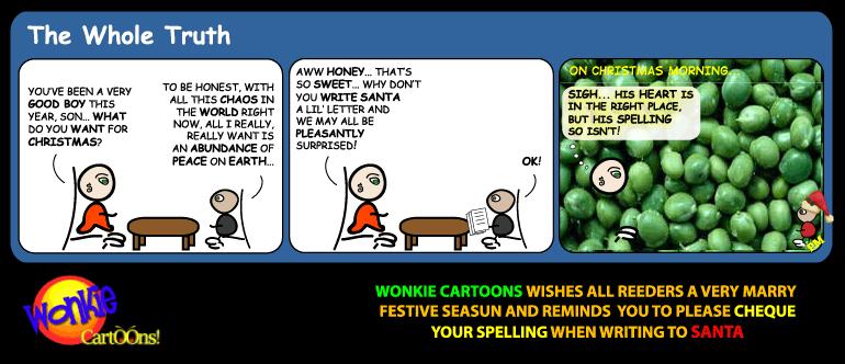 Peace on Earth cartoon