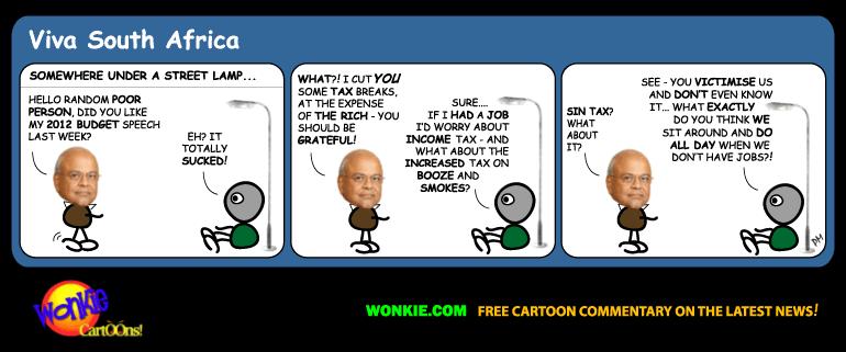 pravin gordhan 2012 budget cartoon