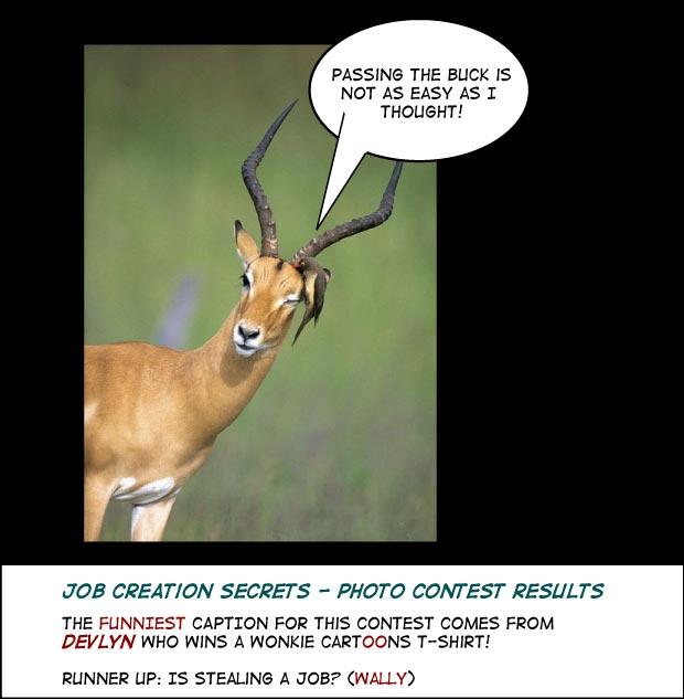 job creation photo caption cartoon